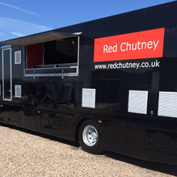 Temporary Kitchen Red Chutney Location Catering